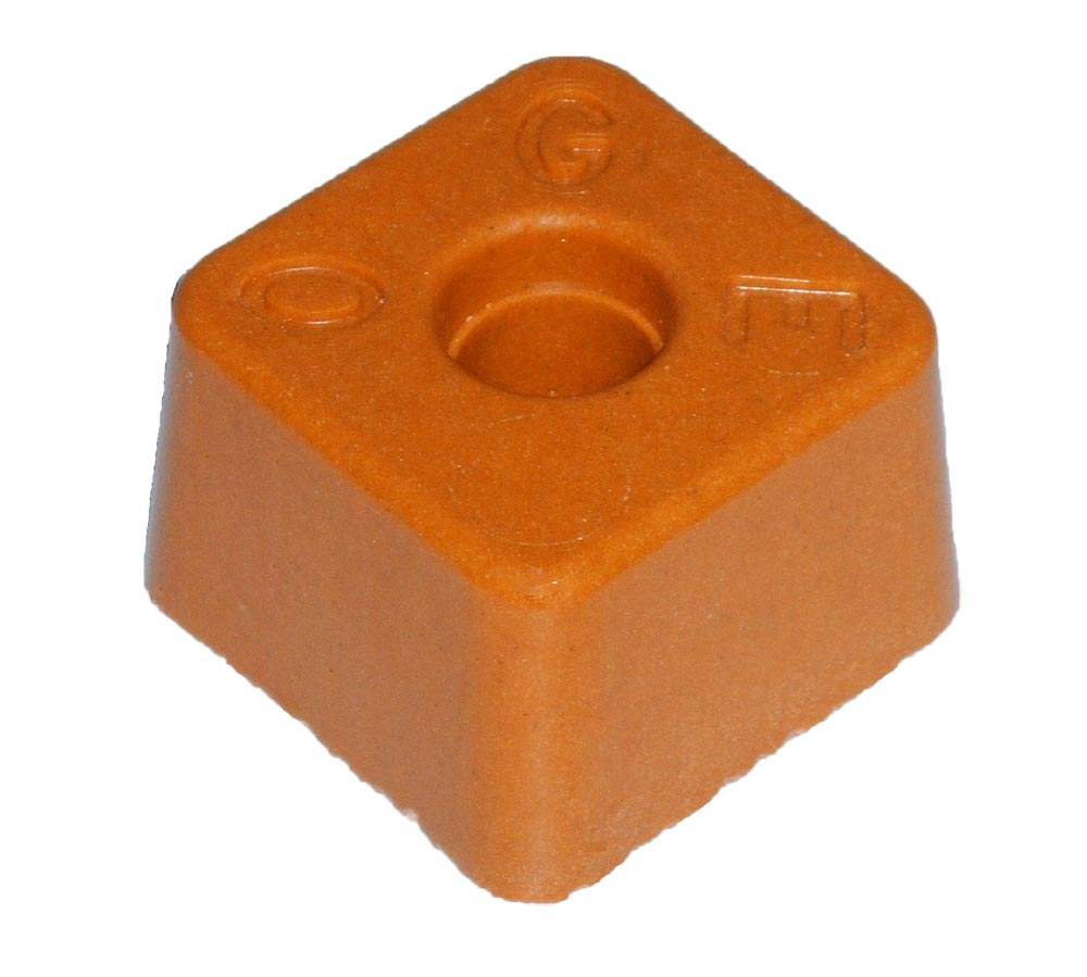 AA-Petite Résineborne Base 95 X95 ht 60 mm orange OGE