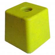 image: Grande Résineborne 100X100 mm ht 110 mm jaune SANS INSCRI