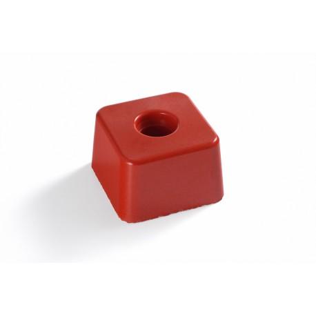 image: Petite Résineborne 85X85 mm ht 60 mm rouge SANS INSCRIPTI