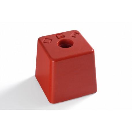 image: Grande Résineborne 100X100 mm ht 110 mm rouge OGE