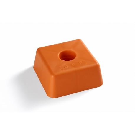 image: Tête plastique orange 100*100 ht 50 mm OGE