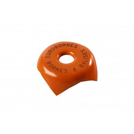 image: Tête métallique orange Gravée